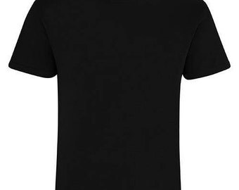 black tshirt with a photo of your choice as a stamp