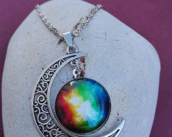 Half moon Cosmos Color necklace
