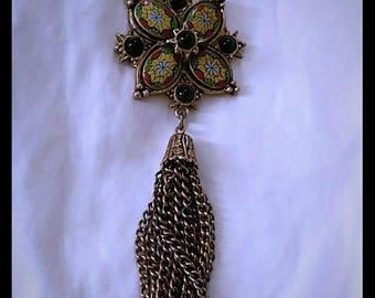 Amazing vintage necklace with fringe