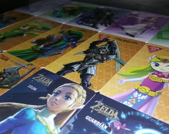 Zelda Amiibo Cards all 18 Plastic NFC Cards for Nintendo Switch and Wii U