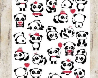 Cute Little Panda Stickers