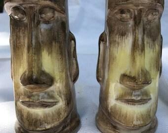 Salt & Pepper Shaker Easter Island Tiki Moab Statues