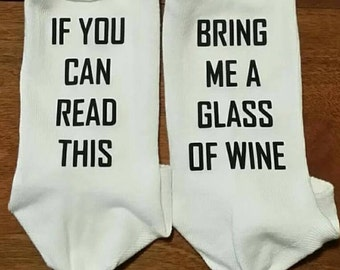 Wine Socks Custom Made