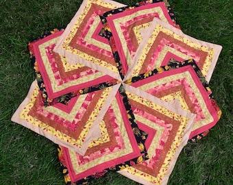 Handmade Fall Table Runner/ Leaves/Autumn/Strata Star