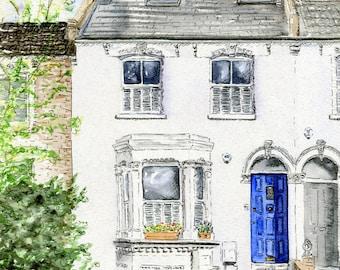 Custom House Portrait - Original Watercolour Painting Commission