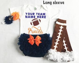 baby girl Auburn Tigers football - Auburn baby - Auburn university football baby - baby girl football - football leg warmers - girl auburn