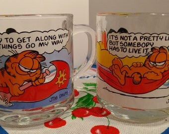 Garfield & Odie McDonald's Collectible Coffee Mugs