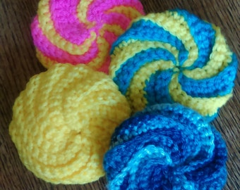 Sunshine Scrubbies: set of 3