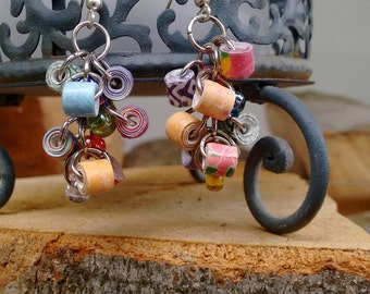 Paper bead earrings fresh