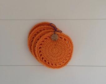 Set of four Orange Coasters