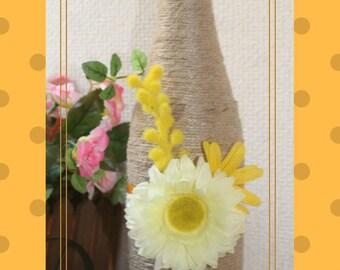 Decorative Yellow flower Bottle