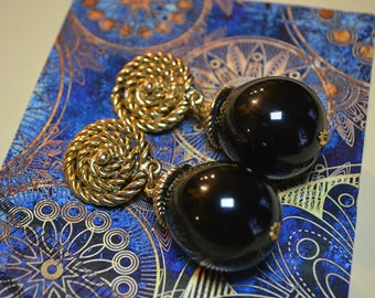 Statement Jewelry| Chanel Inspired Earrings| Vintage| Vtg Clip On Earrings