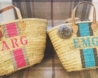 Monogrammed French Basket - Maya