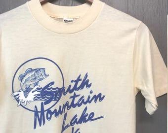 XS * Vintage 80s Smith Mountain Lake Virginia tourist t shirt