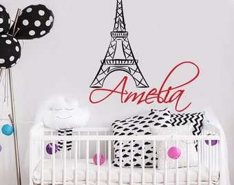 Eiffel Decal Etsy - Personalized custom vinyl wall decals for nurserypersonalized vinyl etsy