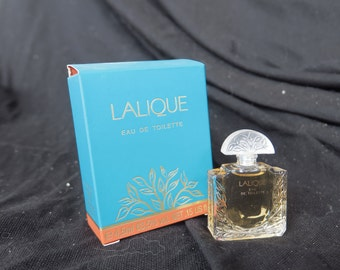 échantillon semi-moderne eau de toilette Lalique, 4,5 ml,Lalique semi-modern eau de toilette sample, 4.5 ml, bottiglia in miniatura
