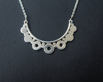 925 Sterling Silver Charms Necklace with Adjustable length from 15-18 Inches
