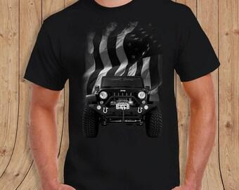 jeep america flag - jeep shirt - t-Shirt Mens
