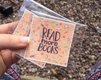 Read More Books Square Medium Sticker