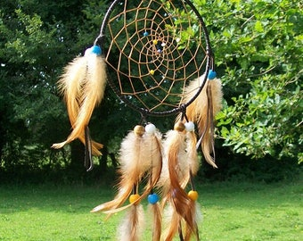 dream catcher brown leather
