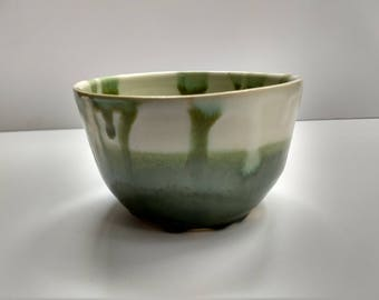 "Ceramic Bowl ""White and Celadon"""