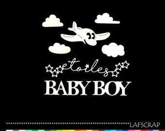 cuts scrapbooking baby birth airplane cloud Word star baby boy paper embellishment die cut boy