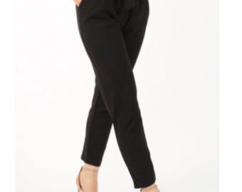 Cigarette Pleated Trousers With Belt