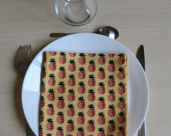 Napkin - 34 x 34 - pineapple motif