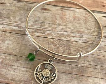 Outlander Bangle, Jamie Fraser Bangle, Thistle Bracelet, Celtic Bracelet, Book Nerd, Bookish Jewelry, Literary Jewelry, Bookworm