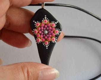 Painting on Pebble necklace