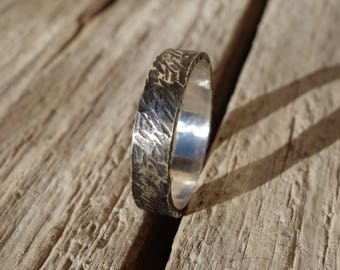 Ring silver, silver wedding ring, silver ring, wedding, blackened, silver ring wedding ring men, man, man wedding band ring.