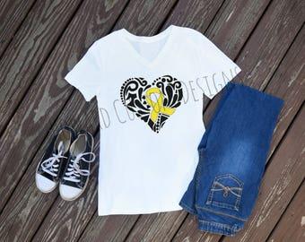 Endometriosis Awareness Ribbon Shirt, Endo Warrior, Endometriosis Awareness
