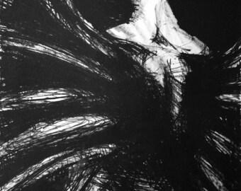 Fallen Angel Lithograph (27x33 framed)