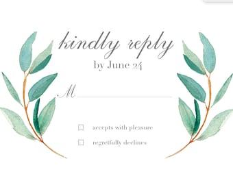 Botanical Reply Card