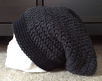 Slouchy hat   Crocheted slouchy hat  Hipster hat  Winter hat adult