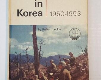 """Landmark Book Series #W57 """"The War In Korea 1950 - 1953"""" by Robert Leckie"""