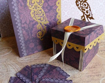 Box dragees OWL steampunk box dragees OWL steampunk table decoration, wedding, christening favors box, luxury ceremony