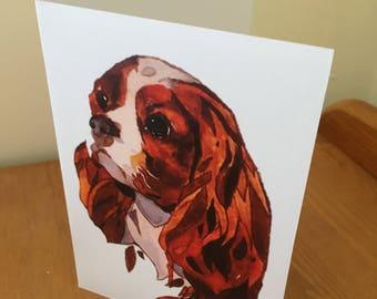 Watercolour dog print