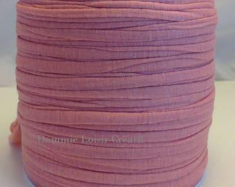Pelote de Trapilho coton lycra rose saumon