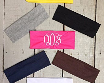 Monogramed Headband for Toddlers, Embroidered Headband