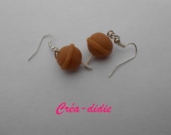 Cola lollipop earrings