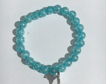 Brilliant blue Beads Bracelet