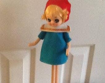 Vintage, Rare, 1960's Dakin Dream Doll, Cloth Pose Doll,