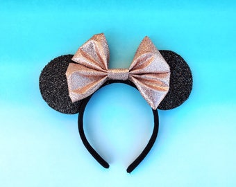 Rose Gold Mickey Ears Minnie Disney Inspired Mouse Ears