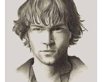 Sam Winchester Pencil Portrait