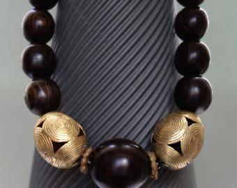 Ebonywood- Brass and Bakelite from Westafrica