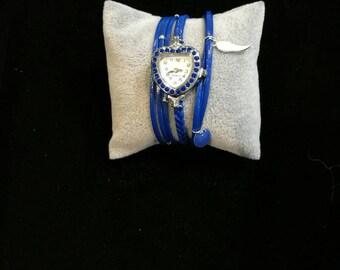 Wristwatch rows multiple Beachy blue