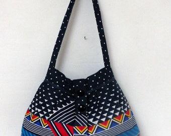 """""""MELI - MELO"""" shoulder bag cotton geometric patterns"""