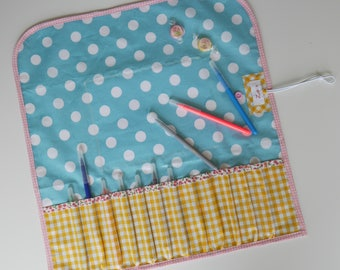 Case and mat with pencil and paper