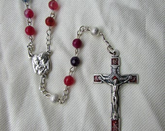 Colorful Agate Rosary 6mm